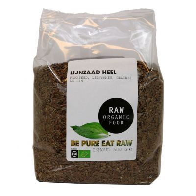 Lijnzaad Heel Raw Bio (500 gr)