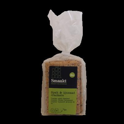 Crackers Speltlijnzaad Vegan (200 gram)