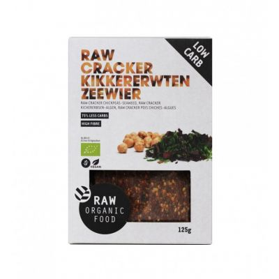 Cracker Kikkererwten Zeewier Raw Bio