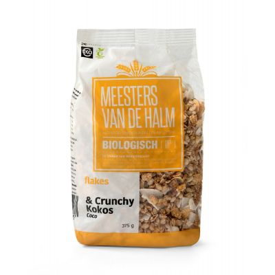 De Halm Flakes & Crunchy Kokos (375 gram)