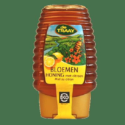 Bloemen Honing Citroen Knijpfles Bio (375 gr)