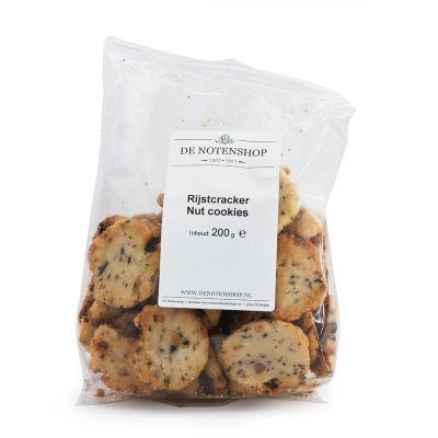 Rijstcrackers Nutcookies (200 gram)