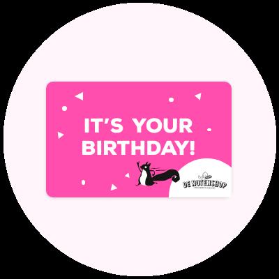 Digitale gift card verjaardag